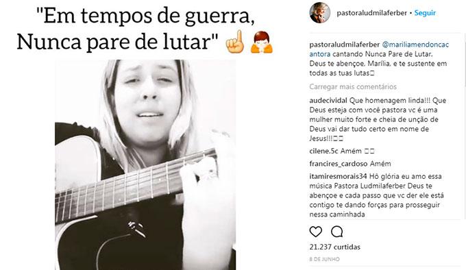 Cantora e Pastora Ludmila Ferber enfrenta câncer de pulmão