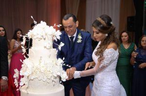 Frank Aguiar se casa com Carolina Santos