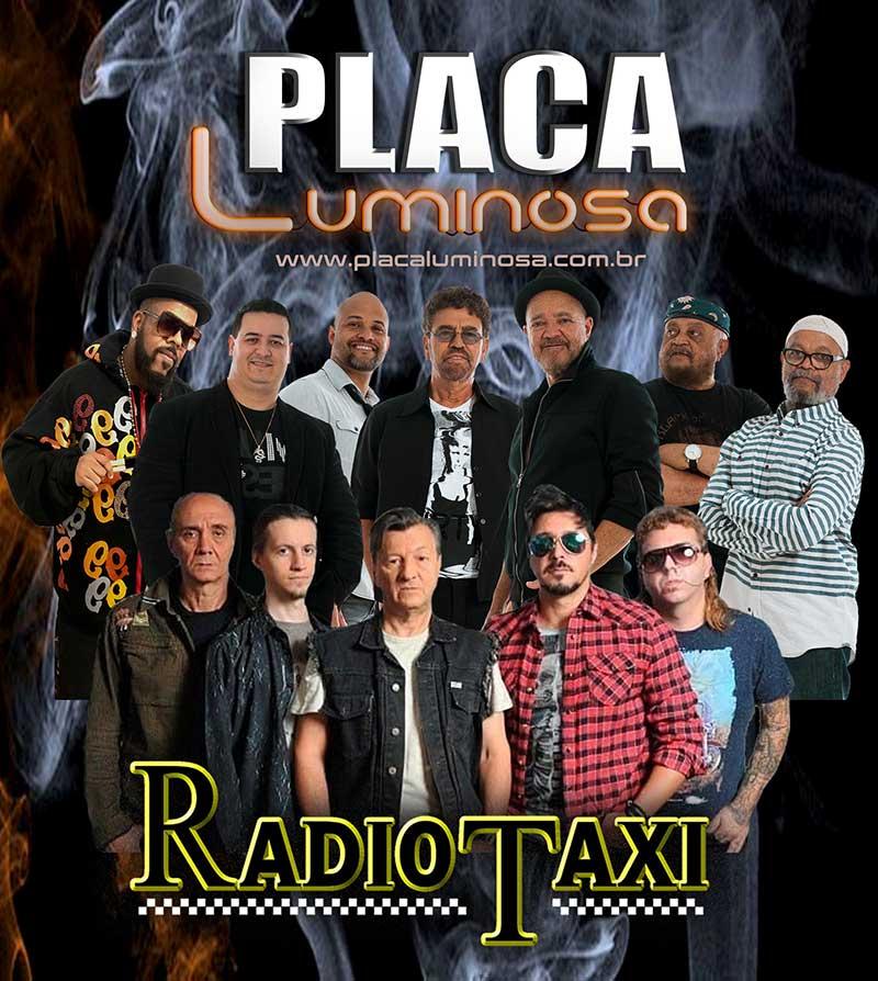 Placa Luminosa E Radio Taxi ícones Década De 70 E 80 Se Unem