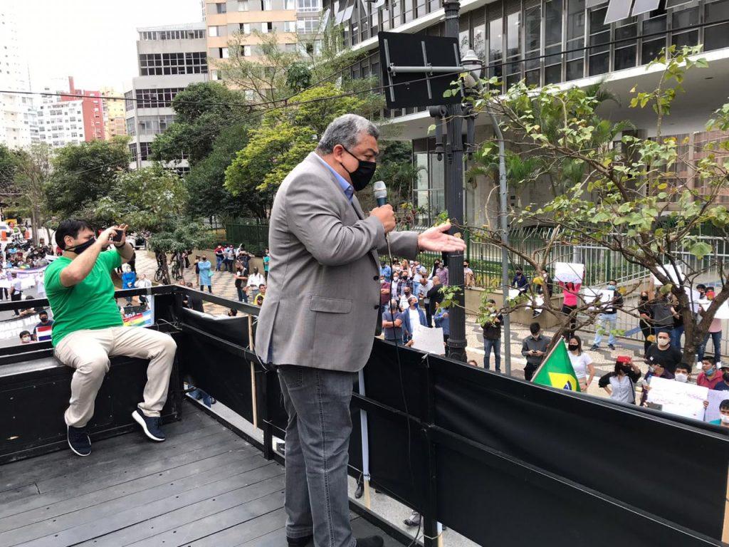 Vereador Zé Turin 1024x768 - Sindicato Pró-Beleza, através do presidente Márcio Michelasi e do vereador Zé Turin, lidera manifestação na Câmara Municipal de São Paulo em prol do retorno do funcionamento dos salões de beleza