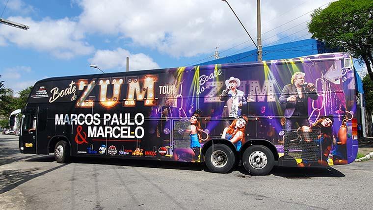 Ônibus da Marcos Paulo e Marcelo tem novo envelopamento