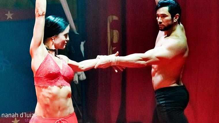 Eliana Favarelli e Reginaldo Sama na Cia do Circo em Campinas