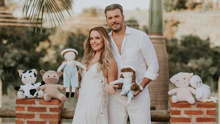 Thaeme e Fábio Elias comemoram nova gravidez