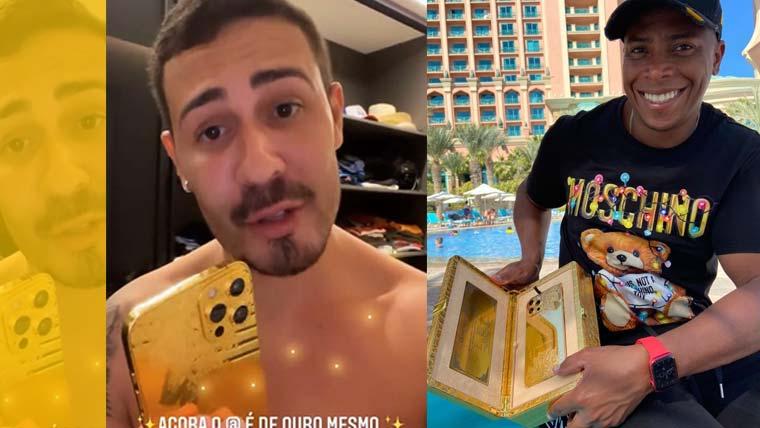 """Carlinhos Maia ganhou """"I Phone de Ouro"""" do amigo e empresário Raoni Soares"""